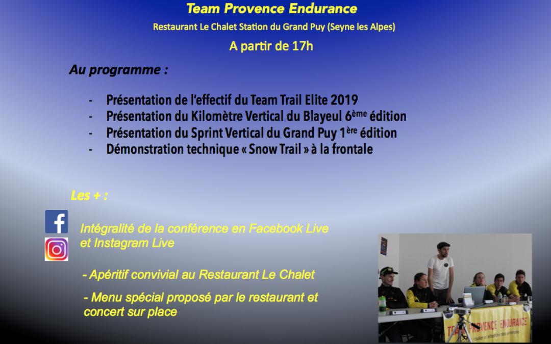 Conférence de presse du Team Provence Endurance
