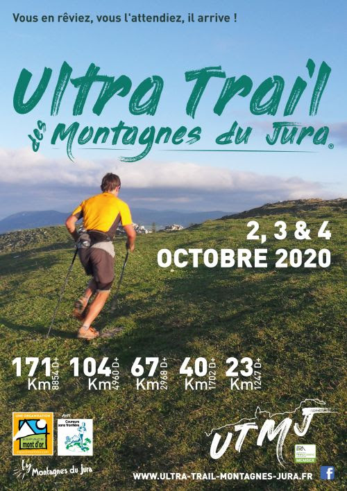 Affiche UTMJ : l'Ultra Trail des Montagnes du Jura.