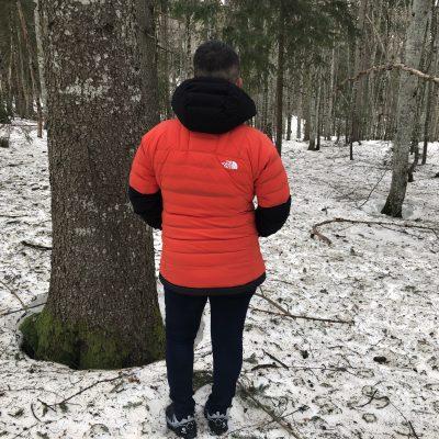 Test outdoor de la veste duvet à capuche The North Face Summit Series L3.