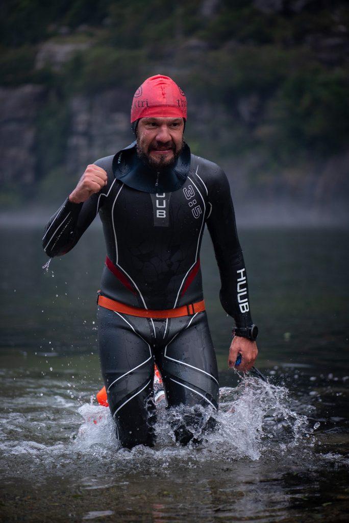 Ibrahim Bennouna en triathlon