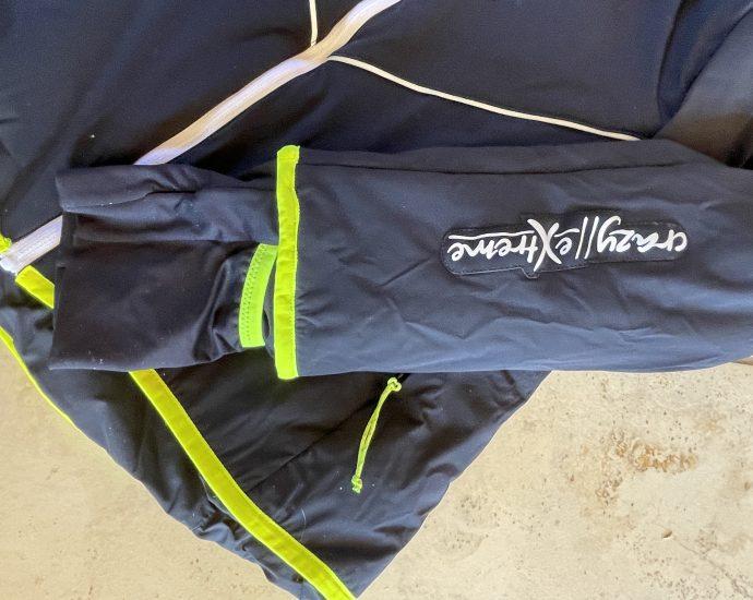 Test outdoor de la veste Please Woman de la marque Crazy Idea.