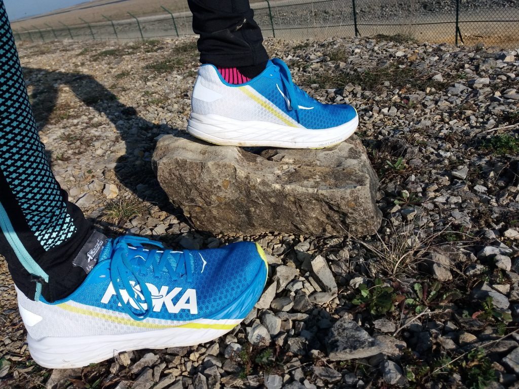 Test outdoor de la chaussure de running Hoka Rocket X