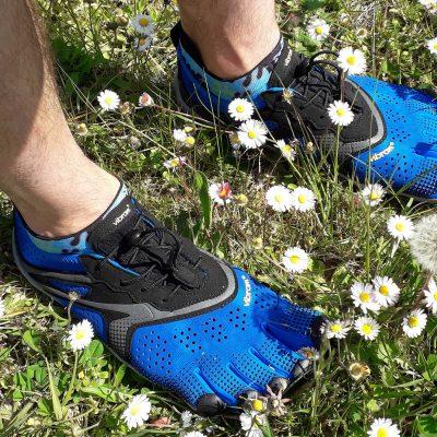 Test des chaussures Vibram FiveFingers V-RUN : une paire running minimaliste et technique.