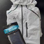 Test et avis de la veste de pluie Firefly et des chaussettes Eco-Dry Verjari, une marque de sport technique Française.