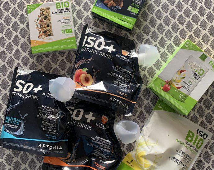 Test outdoor des boissons Isotoniques Aptonia, la marque de produits de nutrition sportive de Décathlon.